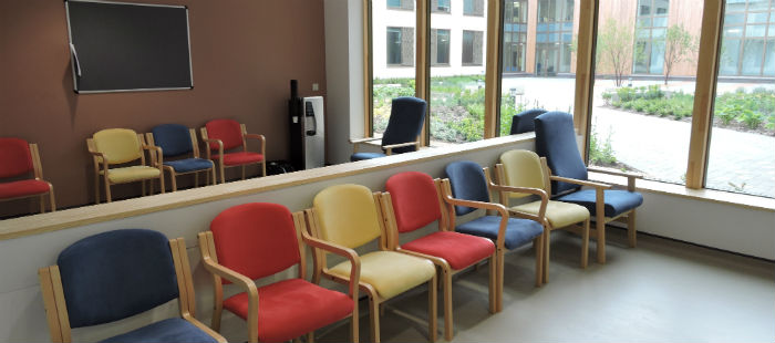 Photo of the fracture clinic waiting area