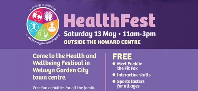 Come to the Health and Wellbeing Festival in Welwyn Garden City town centre